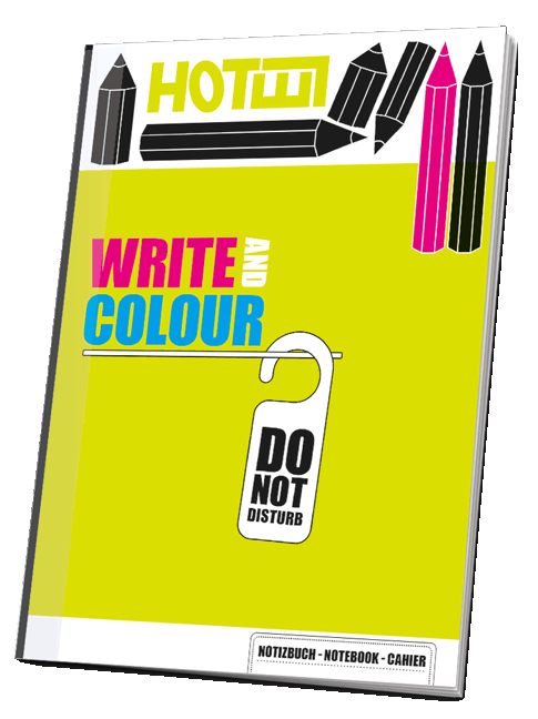 Notizheft Hotel / Write and Colour